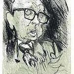 4.- Dámaso Alonso, Sobre un Pasaje de Juventud,  Aguafuerte y aguatinta, mancha 32 x 24,5 cm., soporte 48,5 x 38 cm.