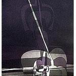 8.- La noche y la llama (VII), Aguafuerte y aguatinta, 48,5 x 38 cm., soporte 48,5 x 38 cm.