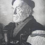 1.- Retrato de Pío Baroja, Aguafuerte, mancha 50 x 38,2 cm., soporte 50 x 38,2 cm.