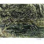 5.- De Otros Mares,  Aguafuerte, mancha 24,5 x 32,5 cm., soporte 38 x 49 cm.