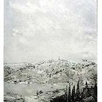 1.- Prólogo de Toledo,  Puntaseca y aguatinta, mancha 32 x 24,5 cm., soporte 49 x 38 cm.