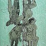 8.- Fabulas del Genil (VIII), Litografía, mancha 48 x 37 cm., soporte 50 x 38 cm.