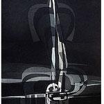 2.- La noche y la llama (I), Aguafuerte y aguatinta, 48,5 x 38 cm., soporte 48,5 x 38 cm., soporte 48,5 x 38 cm.