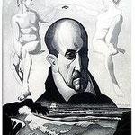 13.- Retrato de Góngora, Aguafuerte y aguatinta, 32,5 x 24,5 cm., soporte 48,5 x 37,5 cm.