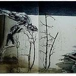 12.- Sonetos (XII), Aguafuerte, 49,5 x 76 cm., soporte 49,5 x 76 cm.