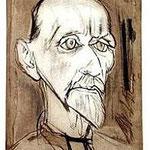 7.- Juan Ramón Jiménez, Puntaseca y aguatinta, mancha 32 x 24,5 cm., soporte 50,5 x 38 cm.