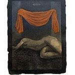 11.- Sonetos Amorosos (XI), Aguafuerte, 29 x 39 cm., soporte 48,5 x 38 cm.