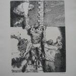 4.- Dolores la Escandalosa (III), Aguafuerte, mancha 32,5 x 24,5 cm., soporte 50 x 38 cm.