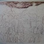 9.- Caminos (VIII), Litografía, mancha 50 x 37,5 cm., soporte 50 x 37,5 cm.   10.- Caminos (IX), Litografía, mancha 50 x 37,5 cm., soporte 50 x 37,5 cm.