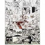 5.- Coplas a la Muerte de su Padre (V), Puntaseca y Buril, mancha 47 x 36,5 cm., soporte 48,5 x 37,5 cm.