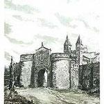 2.- Puerta de la Bisagra,  Puntaseca y aguatinta, mancha 32 x 24,5 cm., soporte 49 x 38 cm.