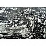 13.- Poemas Metafísicos,  Aguafuerte y aguatinta, mancha 48 x 76 cm., soporte 48 x 76 cm.