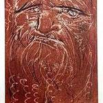 1.- Leonardo Da Vinci, Puntaseca y aguatinta, mancha 32 x 24,5 cm., soporte 50,5 x 38 cm.