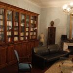 bibliothèque diversifiée au salon