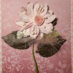 Blume - mit Metallblättern