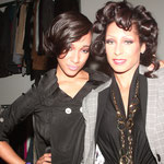 Diamandi and Allison backstage for Goldilox Hair House in Atlanta