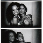 Diamandi and Arti. Photobooth fun!