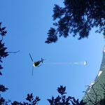 Mardi 8 juin - Début de l'héliportage du matériel