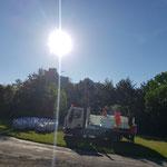 Mardi 8 juin - préparation des citernes d'eau par les services techniques de la commune