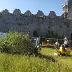 Mardi 8 juin - Préparation de l'héliportage des arbres dégagés de la Poterne Nord