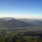 200 km Sicht auf das Alpenpanorame