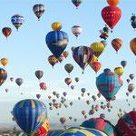 Heißluftballon-Massenstart