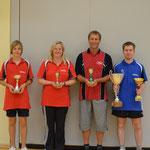 Sieger Vereinsmeisterschaft 2012 (von links: Eric Möhring, Silke Belger, Frank Schulz, Julian Giese)