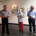 Eröffnung durch Mag. Anton Levstek, Kulturzentrum Korotan, Pino Bonanno, Dr. Andreas Hodel; Arbeiten von Anneke Hodel-Onstein