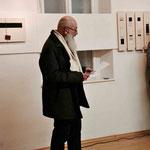Vernissage, Eröffnung durch Ernst Hager, Obmann Kulturgruppe CART