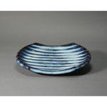 白岩焼和兵衛窯 海鼠釉鎬皿