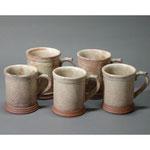 白岩焼和兵衛窯 粉引マグカップ