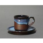 白岩焼和兵衛窯 海鼠釉コーヒーカップ