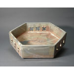 白岩焼和兵衛窯 粉引六角鉢