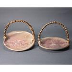 白岩焼和兵衛窯 手付き桜文鉢