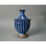 白岩焼和兵衛窯 海鼠釉鎬瓶