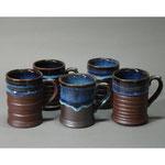 白岩焼和兵衛窯 海鼠釉マグカップ