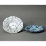 白岩焼和兵衛窯 百合文皿