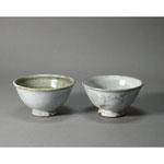 白岩焼和兵衛窯 白釉飯茶碗