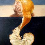 Mandarina, 15cm x 10cm, alquidico sobre panel, 2010, Vendido.