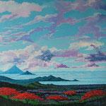 Vista de Managua, acrilico sobre tela, 2005, coleccion del artista.