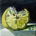 Limon 2, 10cm x 10cm, acril sobte tela, 2010, disponible.