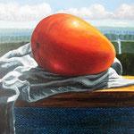 Mango, 30cm x 30cm, alquid op doek, 2008.