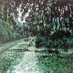 Waterlelies, Olieverf op paneel, 30cm x 24cm, 2010.  DISPONIBLE