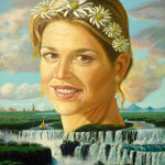 Prinses Maxima, 40cm x 30cm , acryl op linnen, 2009.