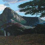 Panoramica de Chontales, 50cm x 150cm, acrilico sobre lino, 2007, Disponible.