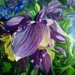 Akelai violeta, Acrylverf op paneel, 47cm x 47cm, 2010. VERKOCHT