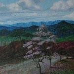 Panoramica de Esteli, desde la estanzuela, 60cmx 220cm, acril sobre lino, 2007, Vendido.