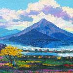 Momotobos y color, acrilico sobre tela, 2004, Vendido.