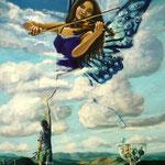 Trazador de sinfonias, 40 cm x 30 cm, acril op pannel, 2011. Verkocht.