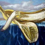 Banano , 15cm x 10cm, acril sobre panel, 2010, disponible.